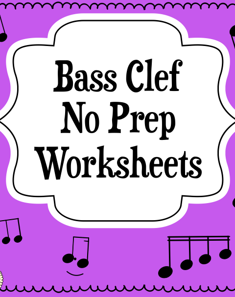 This set of 10 Music worksheets is designed to help your students practice identifying Bass pitch.