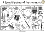 I Spy Instrument Families Coloring Games
