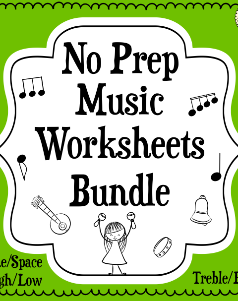 This set of 40 worksheets is designed to help your students practice identifying and notating lines and spaces notes in the Treble and Bass Clef.