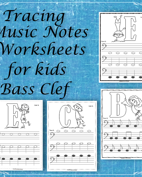 A set of 26 Music Worksheets have been created to help your students learn to trace, copy, color and draw notes on the staff {Bass Clef}. {E first – C second Octaves).