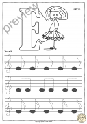 Tracing Music Notes Worksheets for kids {Treble Clef}
