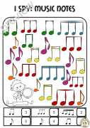 I Spy Music Notes and Symbols Coloring Games