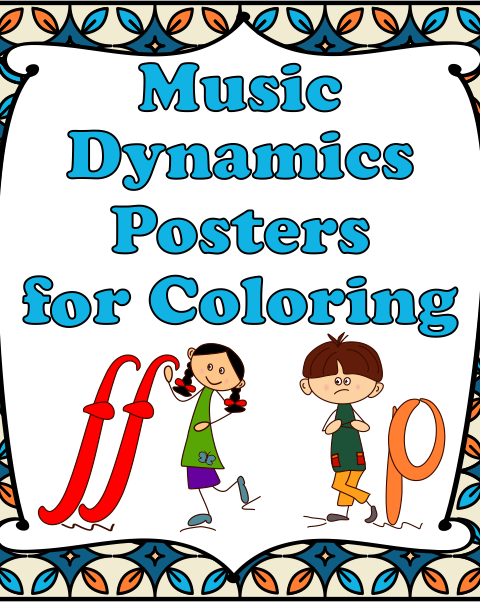 This is a set of 12 Music Symbols Posters in 2 versions (22 in total).