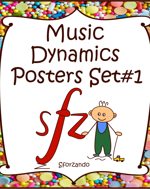 This is a set of 12 Music Symbols Posters (22 in total).  Each dynamic has 2 different versions of posters using different terminology:  In the first format, students are given the Italian term and the definition.  In the second format, students are given the Italian term only.
