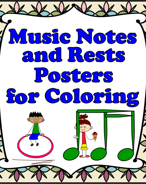 Let your kids decorate your classroom with these music symbol signs!  These will be a hit with your students and will also help them to remember the notes and rest used in music. It is important that they become familiar with these notes and rests as they undertake their own musical journey.