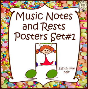 Music Notes and Rests Posters set #1