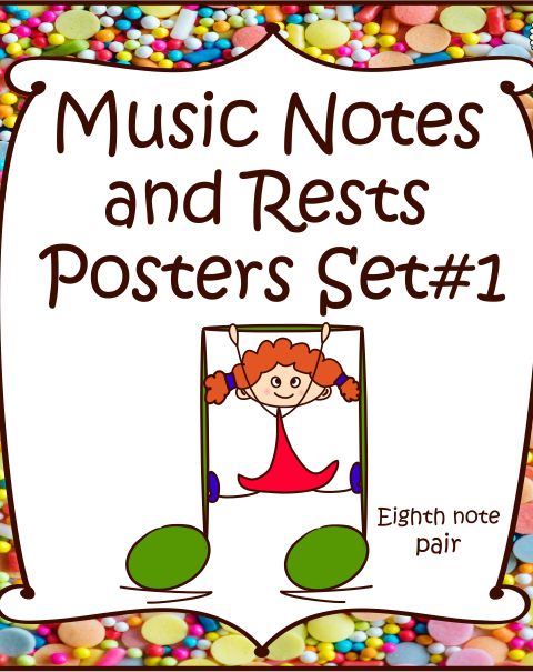 This is a set of 21 Music Notes and Rests Posters.