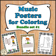 Music Posters for Coloring Bundle set #1
