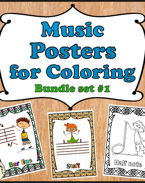 This bundle set includes Music Notes, Rests, Symbols and Dynamics posters. (63 posters for coloring in total).