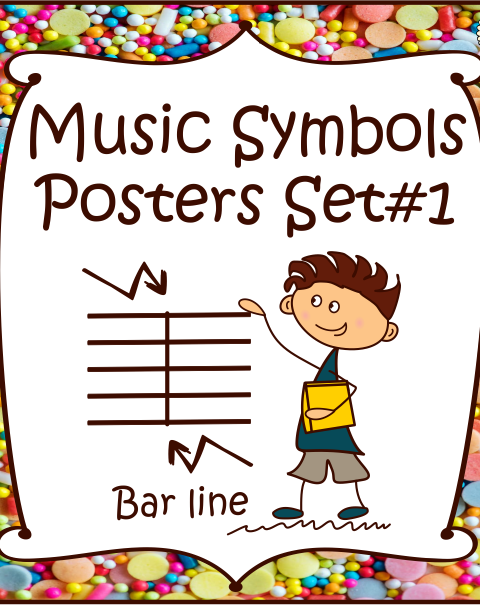This is a set of 20 Music Symbols Posters.