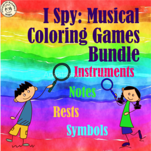 I Spy Musical Coloring Games Bundle