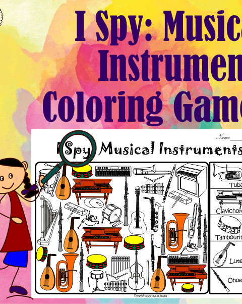 This pack contains 2 sets of activities + answers.  1 set - for younger students – the instrument image match to the image and name of the instrument. (17 pages)  2 set - for older students – the instrument image match to the name of the instrument. (17 pages)  Answers – (17pages).