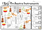 I Spy Orchestra Instruments Coloring Games