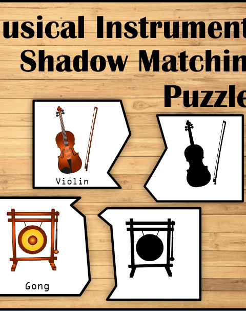This file contains .pdf set for 53 music instruments puzzles (18 pages).