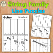 String Family Line Puzzles
