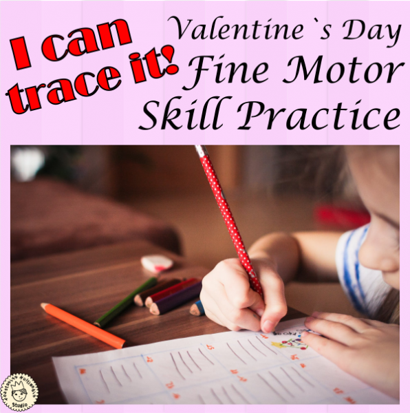 I can trace it! {Valentine's Day fine motor skill practice}