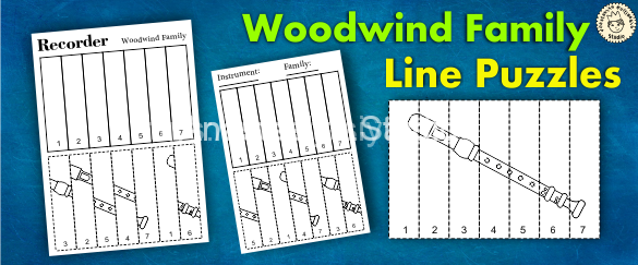 Woodwind Instruments Line Puzzles
