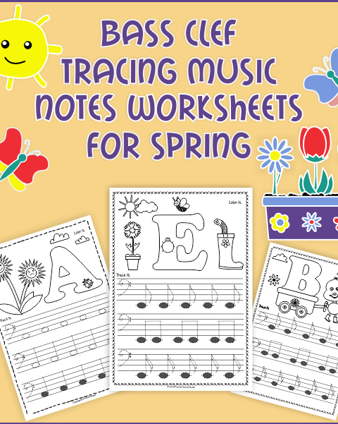 A set of 26 music worksheets {Spring themed} is created to help your students learn to trace, copy, color and draw notes on the staff {Bass pitch}. {E first – C second octaves} Practice in copying them onto their positions on the staff is provided in a large size. This worksheet set takes no prep - just print and copy.