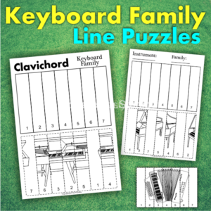 Keyboard Musical Instruments Line Puzzles