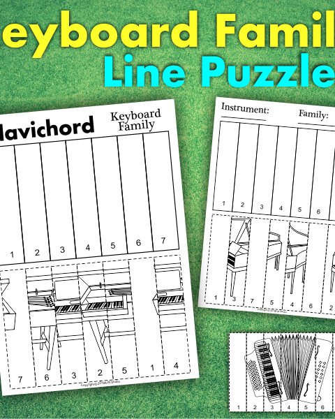 This resource contains three set of activities to help your students recognize and learn names of Keyboard family instruments. (22 .pdf pages in total)