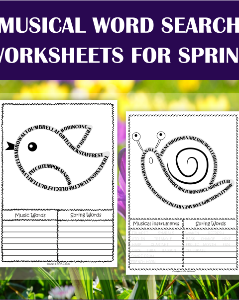 This zip file includes 2 sets of Spring themed music word search worksheets and answers. They were created to reinforce, introduce, or review music vocabulary.