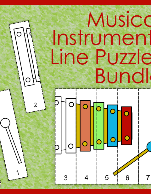This Bundle includes more than 160 Musical Line Puzzle worksheets from 5 sets. Click on individual file to see more info about each one.
