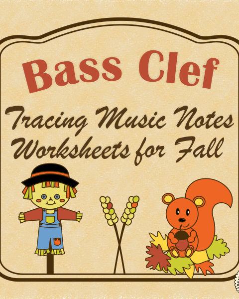 A set of 26 fall music worksheets {Harvest, Thanksgiving, Halloween themes are included} is created to help your students learn to trace, copy, color and draw notes on the staff {Bass pitch}. {E first – C second octaves}.