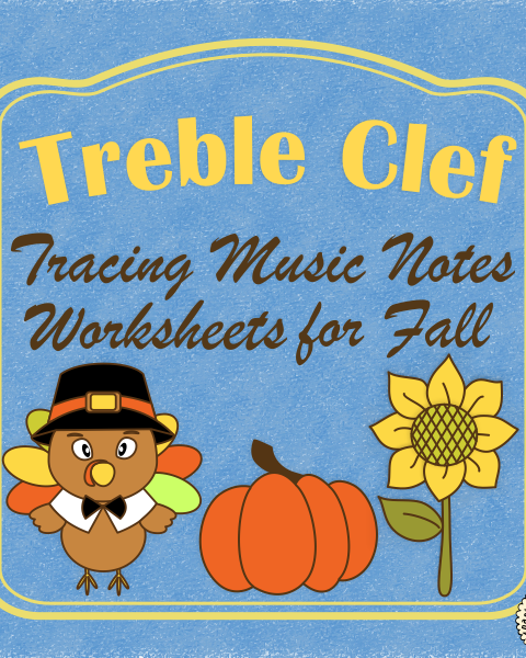 A set of 26 fall music worksheets {Harvest, Thanksgiving, Halloween themes are included} is created to help your students learn to trace, copy, color and draw notes on the staff {Treble pitch}. {C first – A second octaves}.