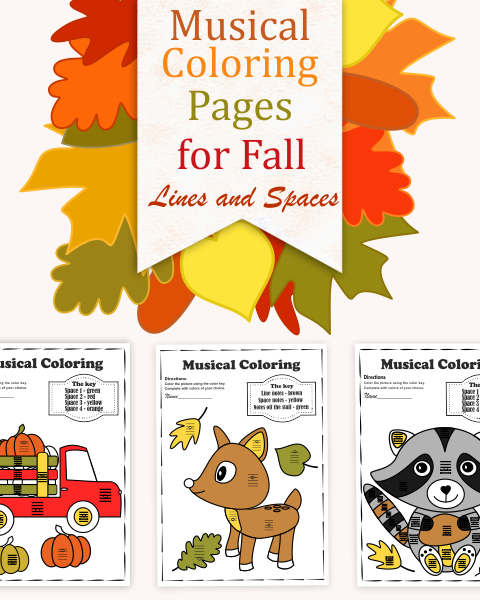 This set contains 10 Autumn/Fall themed musical coloring pages in two different formats (20 coloring pages + 10 pages with answers):