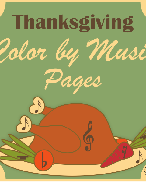 Simple and Fun Thanksgiving Music Activity for Kids.  This set contains 10 designs in 3 different formats (30 pages in total + 10 pages with answers):