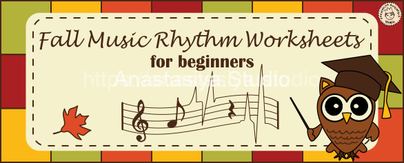Fall Music Rhythm Worksheets for Beginners