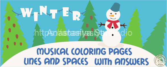 Musical Coloring Pages for Winter {Lines and Spaces}