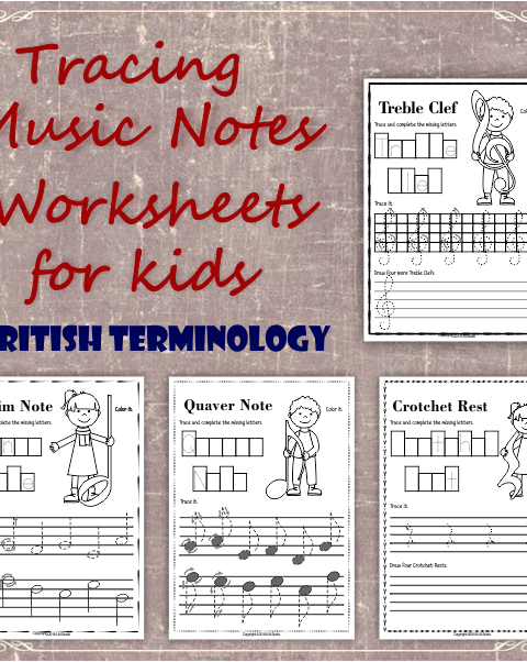A set of 17 music worksheets is created to help your students learn to trace, copy, color and draw symbols, notes and rests commonly used in music. Practice in copying them onto their positions on the stave is provided in a large size.